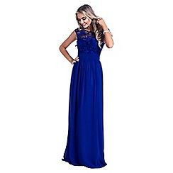 Sistaglam - Royal Blue 'Beverley' embellished maxi dress