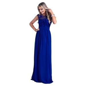 Sistaglam Royal Blue 'Beverley' embellished maxi dress