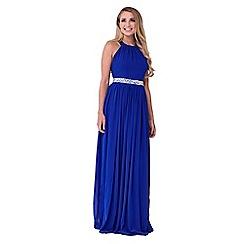 Sistaglam - Blue 'Rosana' embellished waist maxi dress