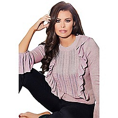 Jessica Wright for Sistaglam - Pink 'Marcia' frill detail jumper