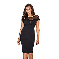 Jessica Wright for Sistaglam - Black 'Laurie' lace mesh bodycon dress