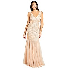 Jessica Wright for Sistaglam - Nude 'Piper' sequin sheer maxi dress