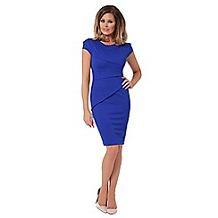 Jessica Wright - Blue 'Vicky' cap sleeve panel dress