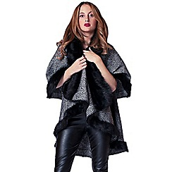 Rosie Fortescue - Grey 'San Moritz' cape