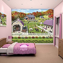 Walltastic - 'Horse and Pony Stables' wallpaper mural
