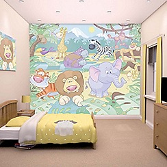 Walltastic - 'Baby Jungle Safari' wallpaper mural