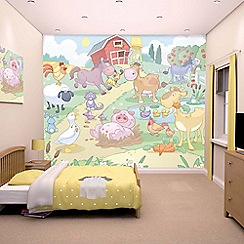 Walltastic - 'Baby Fun on the Farm' wallpaper mural