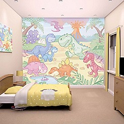 Walltastic - 'Baby Dino World' wallpaper mural