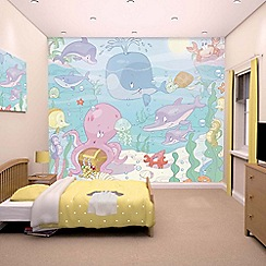 Walltastic - 'Baby Under the Sea' wallpaper mural