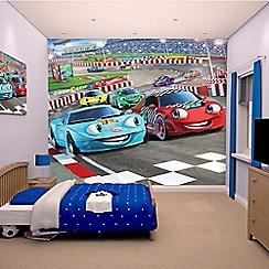 Walltastic - 'Car Racers' wallpaper mural
