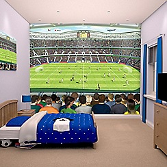Walltastic - 'Football Crazy' wallpaper mural