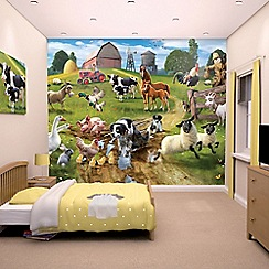 Walltastic - 'Farmyard Fun' wallpaper mural
