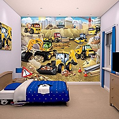Walltastic - 'My 1st JCB' wallpaper mural