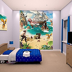 Walltastic - 'Pirate and Treasure Adventure' wallpaper mural