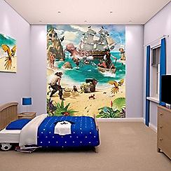 Walltastic - 'Pirate and Treasure Adventure' wallpaper mural