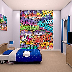 Walltastic - 'Graffiti' wallpaper mural