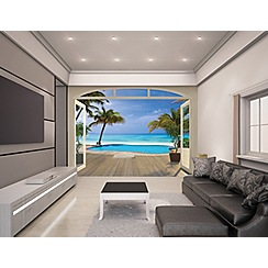 Walltastic - 'Paradise Beach' wallpaper mural