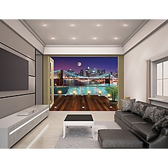 Walltastic - 'Brooklyn Bridge NYC' wallpaper mural
