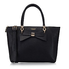 LaBante London - Black 'Avenue' bow tote bag
