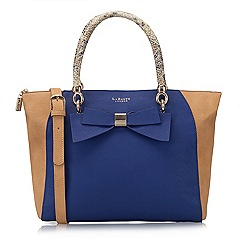 LaBante London - Blue 'Avenue' colour block bow tote bag