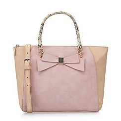 LaBante London - Pink 'Avenue' colour block bow tote bag
