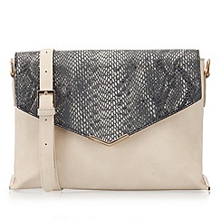 LaBante London - Beige 'Soho' snake pattern bag