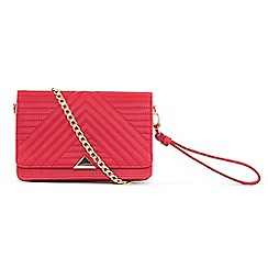 LaBante London - Red 'Serin' quilted across body bag