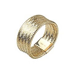 Aurium - Flexi 9 carat  yellow gold mesh braided ring