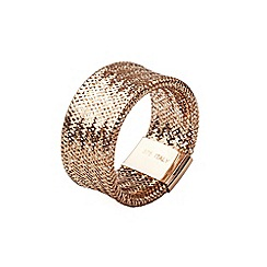 Aurium - Flexi 9 carat  rose gold mesh braided ring