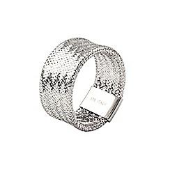 Aurium - Flexi 9 carat  white gold mesh braided ring