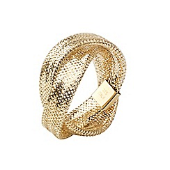 Aurium - Flexi 9 carat  2 row yellow gold mesh braided ring