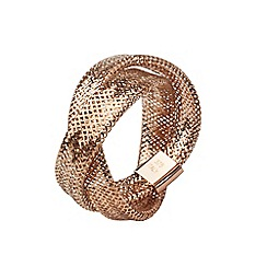 Aurium - Flexi 9 carat  2 row rose gold mesh braided ring