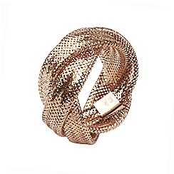 Aurium - Flexi 9 carat  3 row rose gold mesh braided ring