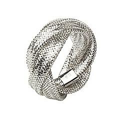 Aurium - Flexi 9 carat  3 row white gold mesh braided ring