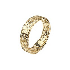 Aurium - Flexi 9 carat  yellow gold slimline mesh braided ring