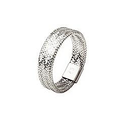 Aurium - Flexi 9 carat  white gold slimline mesh braided ring