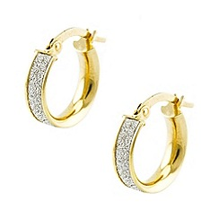 Aurium - Sparkle 9 carat yellow gold small round sparkling pave effect earrings