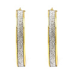 Aurium - Sparkle 9 carat yellow gold large round sparkling pave effect earrings