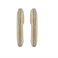 Aurium - Sparkle 9 carat yellow gold medium oval sparkling pave effect earrings