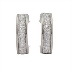 Aurium - Sparkle 9 carat white gold small round sparkling pave effect earrings