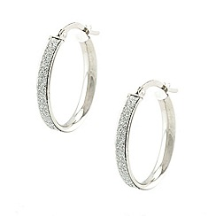 Aurium - Sparkle 9 carat white gold large round sparkling pave effect earrings
