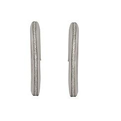 Aurium - Sparkle 9 carat white gold sparkling pave effect earrings