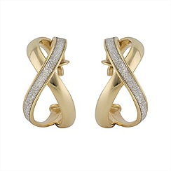Aurium - Sparkle 9 carat yellow gold sparkling pave effect earrings
