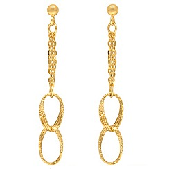 Aurium - 9 carat yellow multi strand open link drop earrings