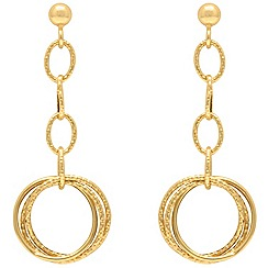 Aurium - 9 carat yellow multi open link and curb Gold drop earrings