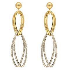 Aurium - 9 carat yellow multi open link Gold drop earrings