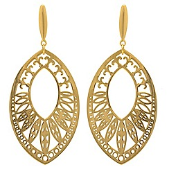 Aurium - 9 carat yellow large tear drop earrings