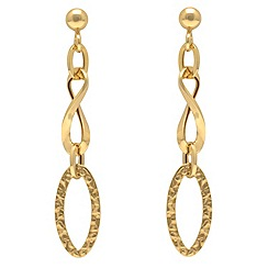 Aurium - 9ct yellow Gold open link drop earrings