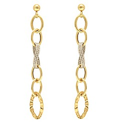 Aurium - 9ct yellow and white Gold  drop earrings