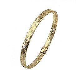 Aurium - Flexi 9 carat yellow gold mesh braided bangle